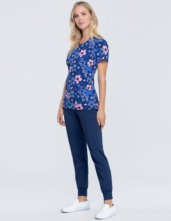 Actively In Bloom Round Neck Top