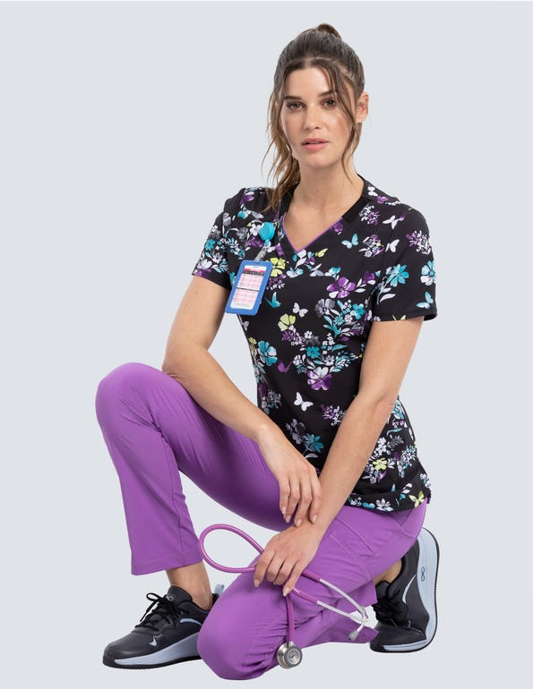 Butterfly Bouquets V-Neck Top