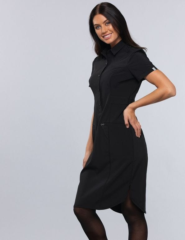 Women's 39 Button Front Scrub Dress