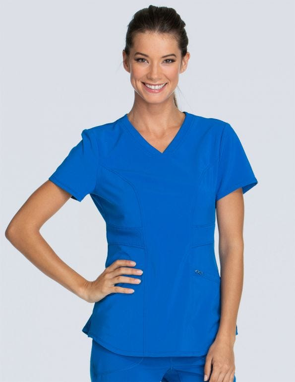 Women's V-Neck Solid Scrub Top