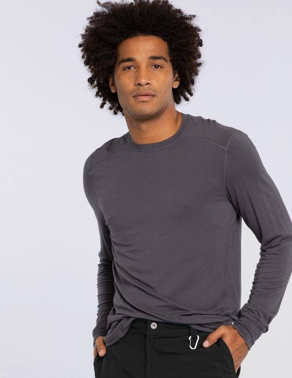 Men's Long Sleeve Solid Underscrub T-Shirt