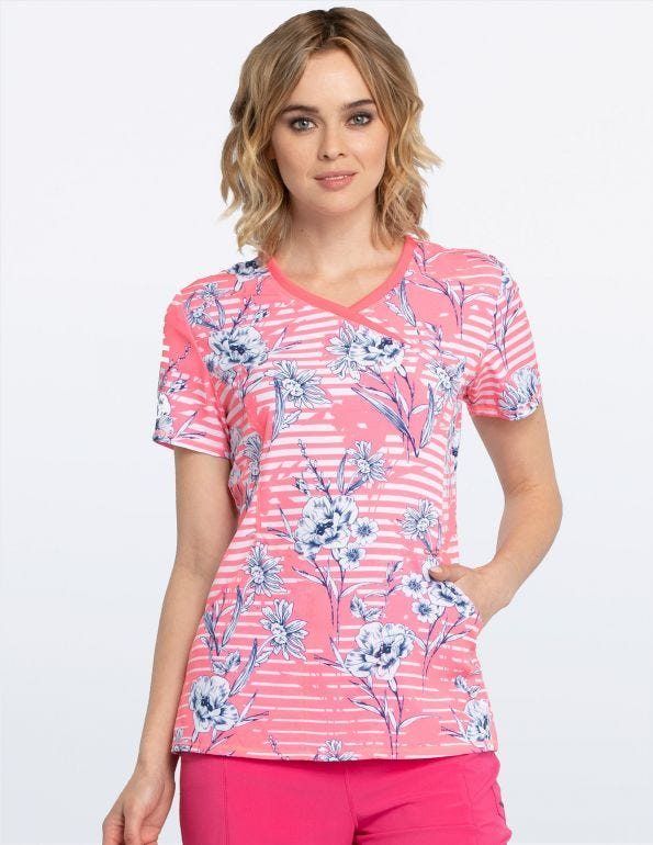 Line Me Up Floral Mock Wrap