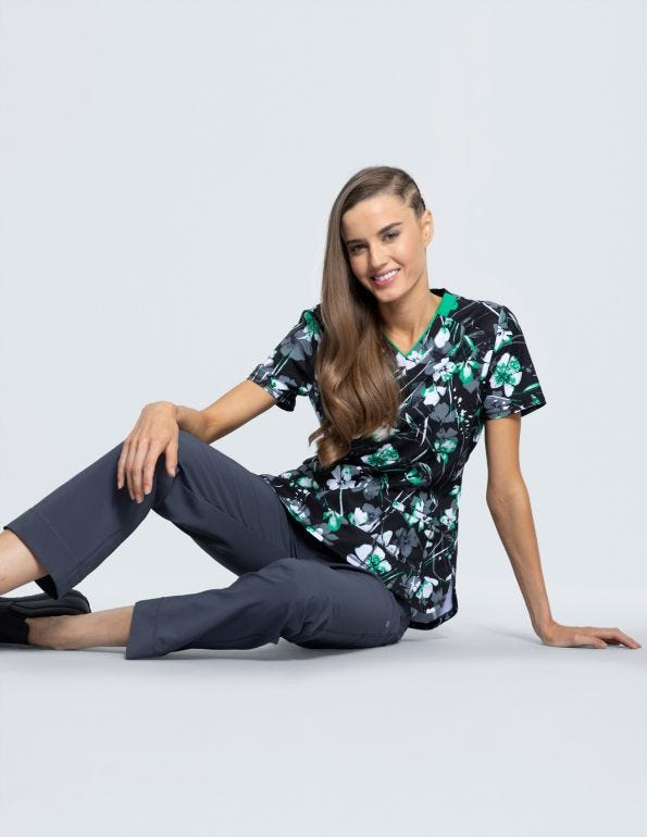 Botanical Gestures V-Neck Top