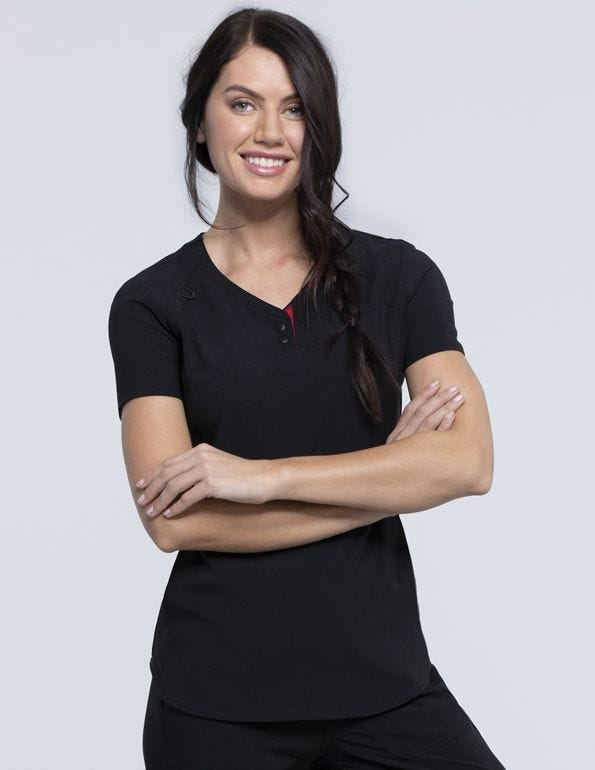 Katie Duke V-Neck Scrub Top