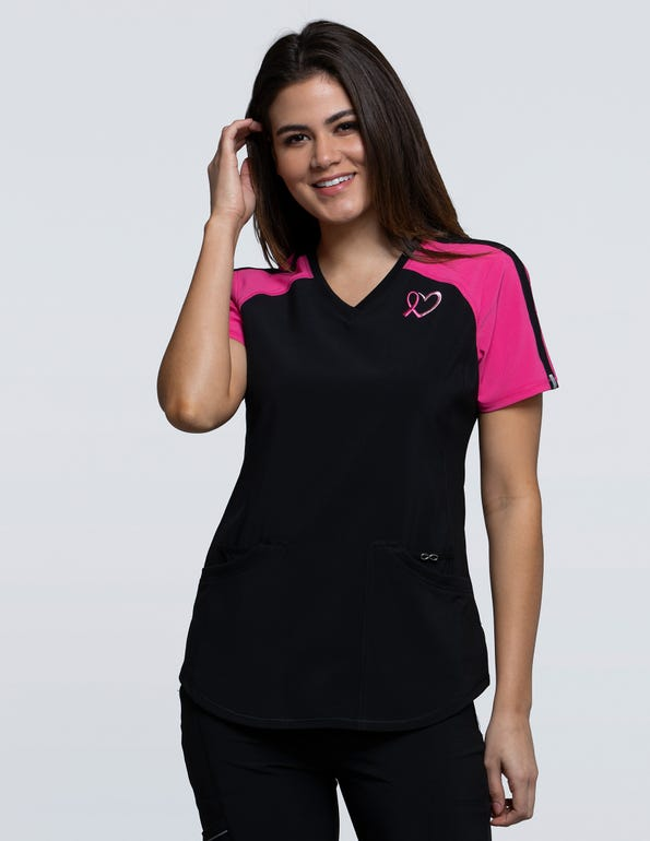 Breast Cancer Awareness V-Neck Top